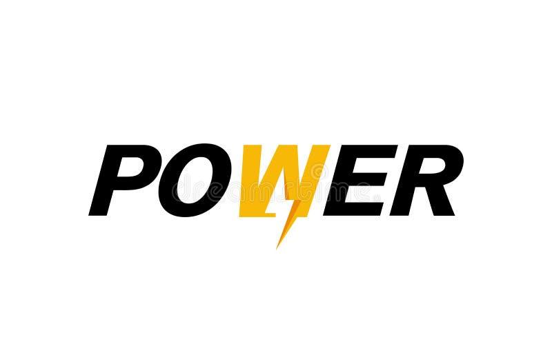 Creative Letter Power Bolt Text Symbol Design. Illustration royalty free illustration