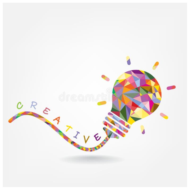 Creative light bulb Idea concept vector illustration