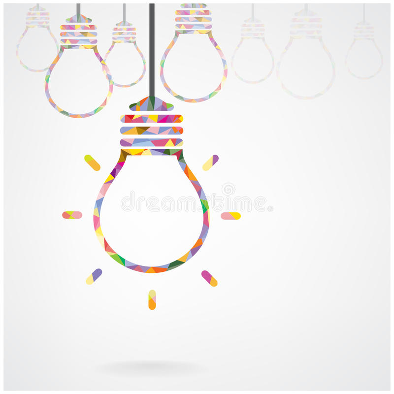 Creative Light Bulb Idea Concept Stock Vector ...