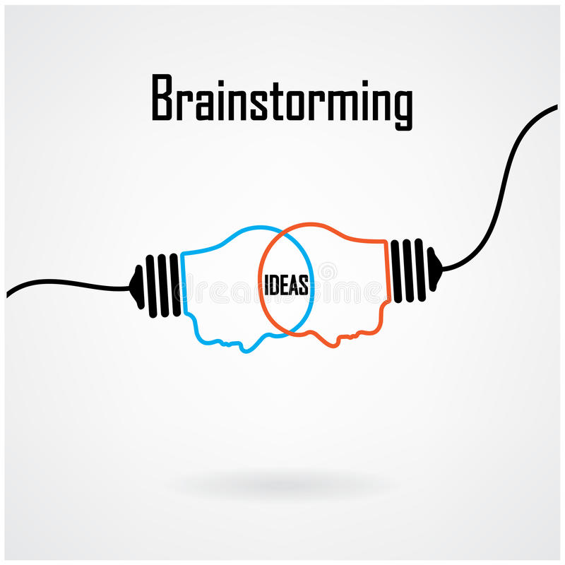 Creative light bulb Idea concept background design stock illustration