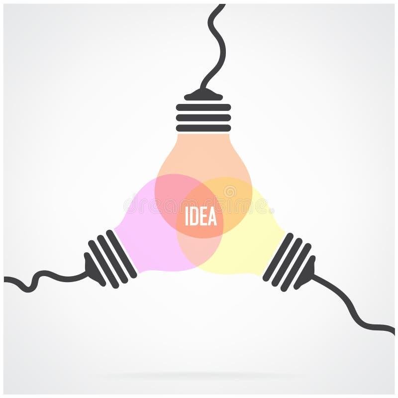 Creative light bulb Idea concept background design vector illustration