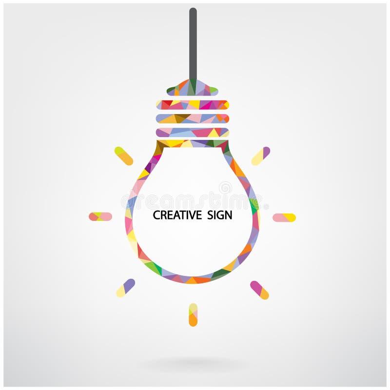 Creative light bulb symbol vector illustration