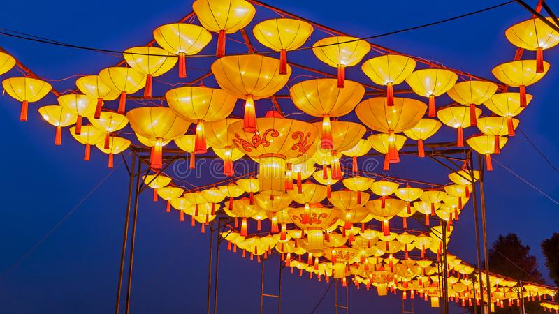 Creative lighting. The lanterns made up of lanterns in the New Year`s Lantern Festival look like a dragon at a distance, and they are very eye-catching
