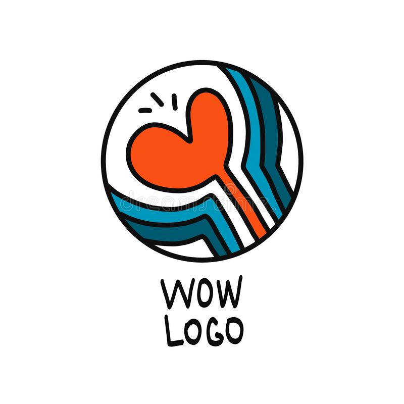 Creative linear hearth logo vector concept hand drawn stock illustration