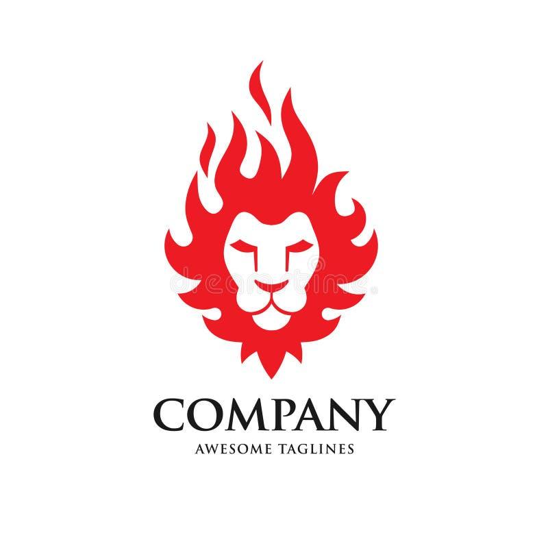 Creative Lion head fire logo vector illustration vector illustration