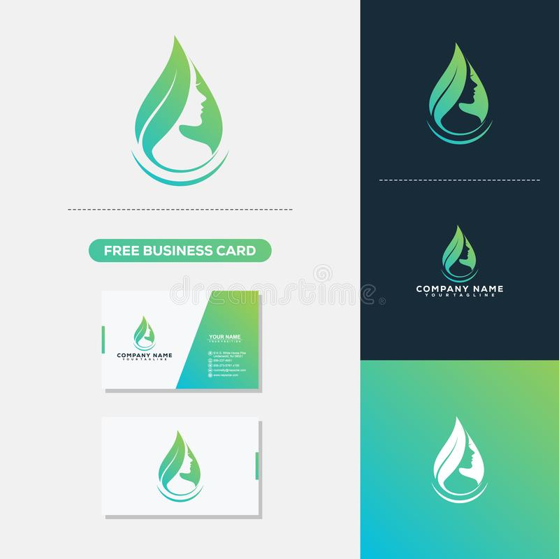 Beauty Woman Creative Logo and Business Card Design. Creative Logo and Business Card Design stock illustration