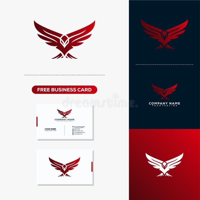 Eagle Creative Logo and Business Card Design. Creative Logo and Business Card Design stock illustration