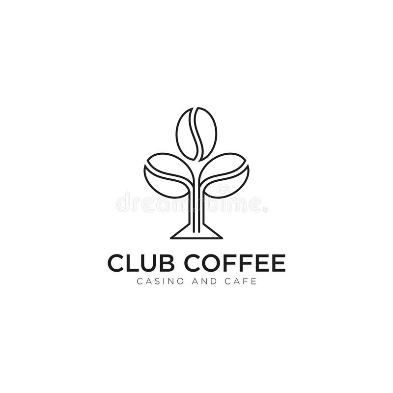 Free Creative Logo Club Coffee, With Seed Vector Royalty Free Stock Image - 208308736