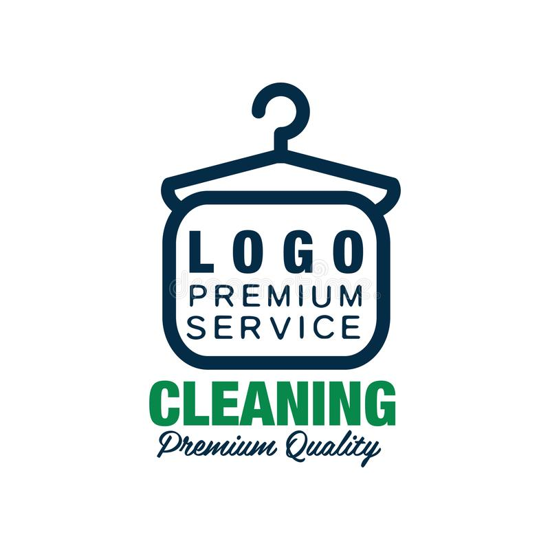 Creative Logo For Dry Cleaning Or Laundry Service Clothes Hanger