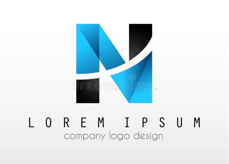 Download Creative Logo Letter N Design For Brand Identity Company Profil Stock Vector