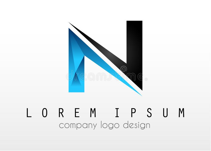 Creative Logo letter N design for brand identity, company profile or corporate logos royalty free illustration