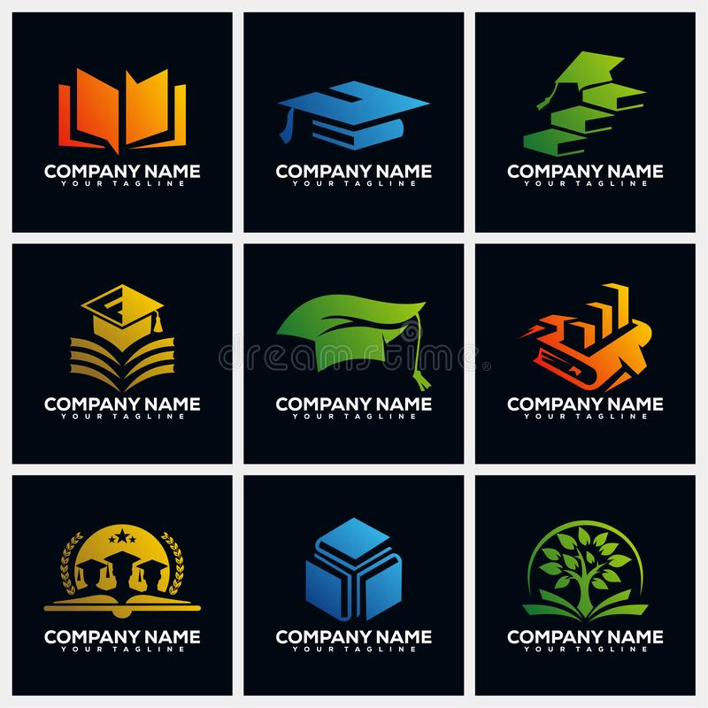 Education Pack Creative Logo Design Concept Vector Template vector illustration