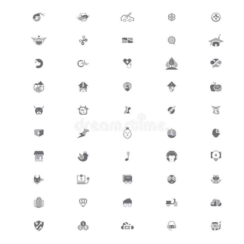 50 Creative Logo Templates V2. Set of 50 creative logo templates suitable for several business. 100% Vector and easy to edit vector illustration