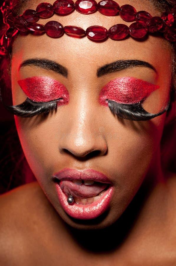 Creative Magenta Eye Makeup Royalty Free Stock Image