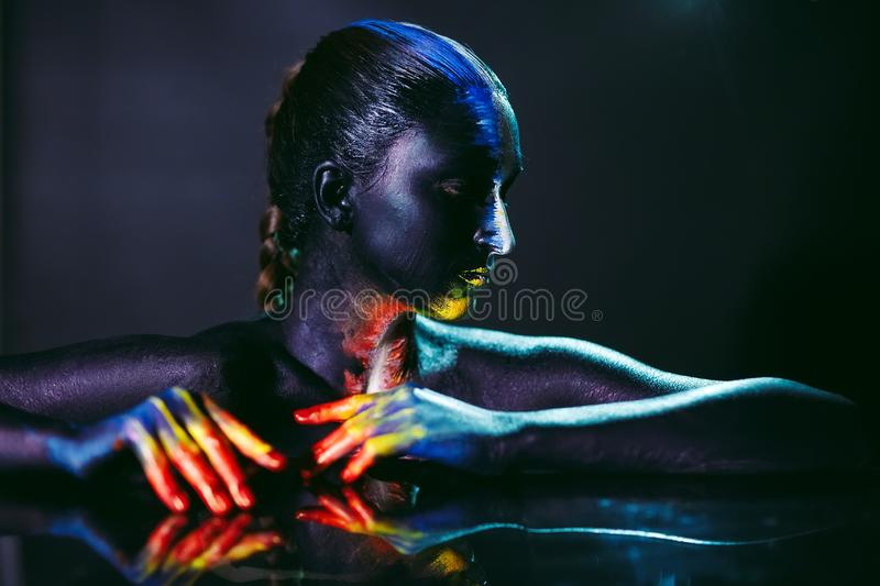 Creative Make Up And Beauty Body Art Theme Stock Photo Image Of Bodyart Creative 154565048