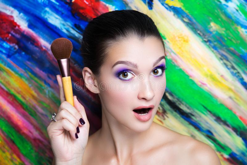 Woman art make up stock photography