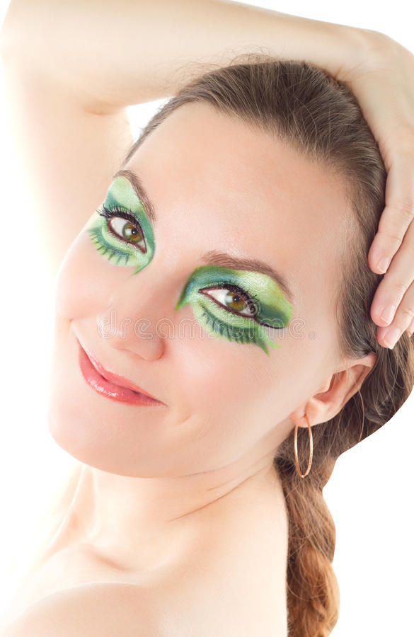 Creative make-up woman stock photography