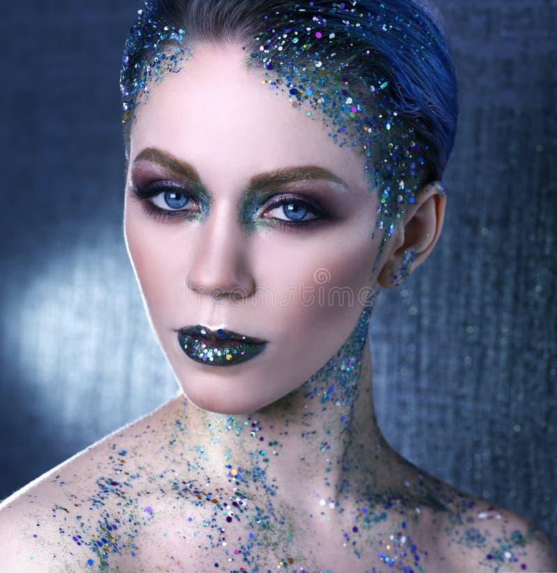Creative makeup royalty free stock photo