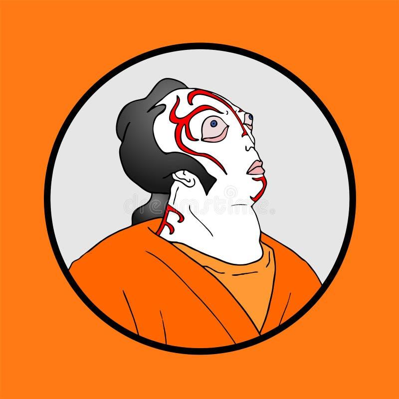 Creative mask face vector illustration
