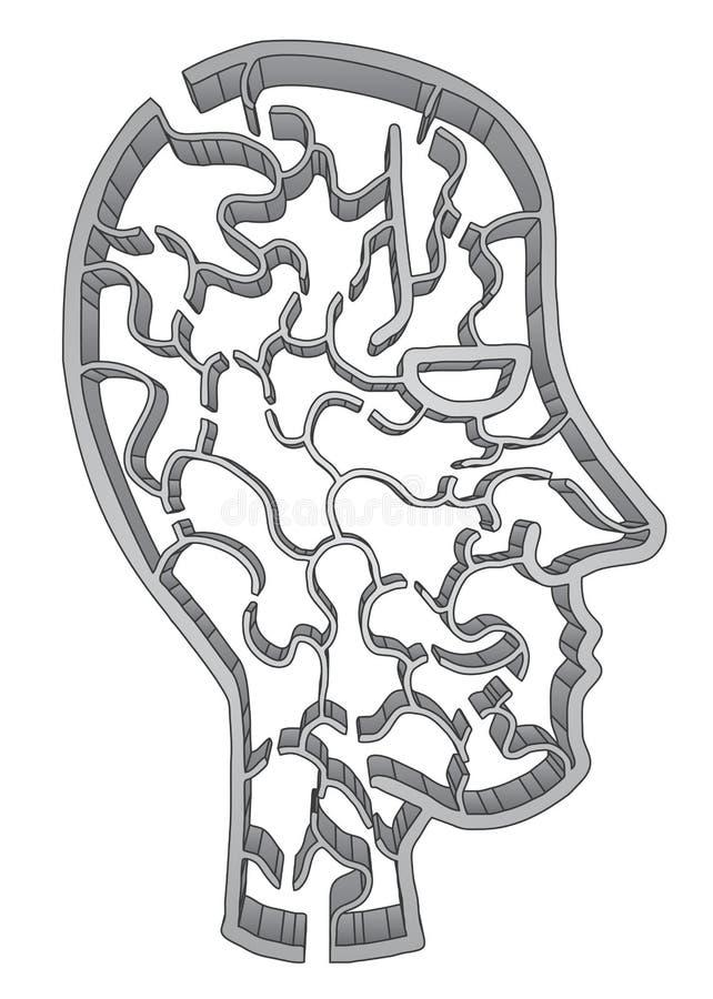 Creative maze face royalty free illustration