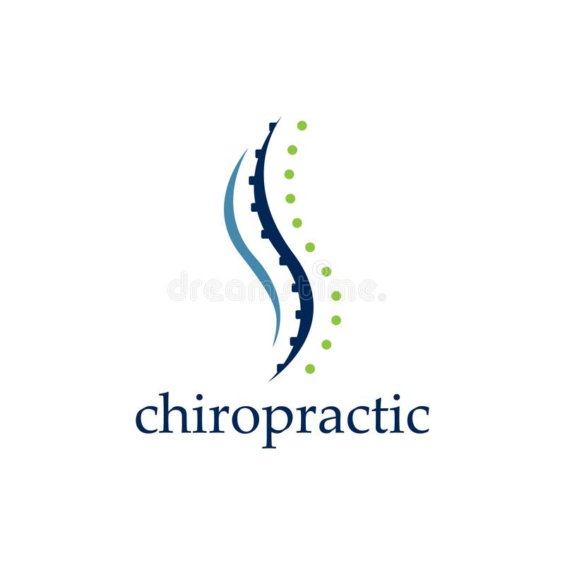 Creative Chiropractic Concept Logo Design Template royalty free illustration