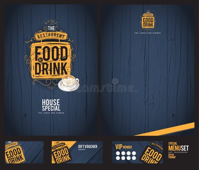 Creative menu design. vector illustration