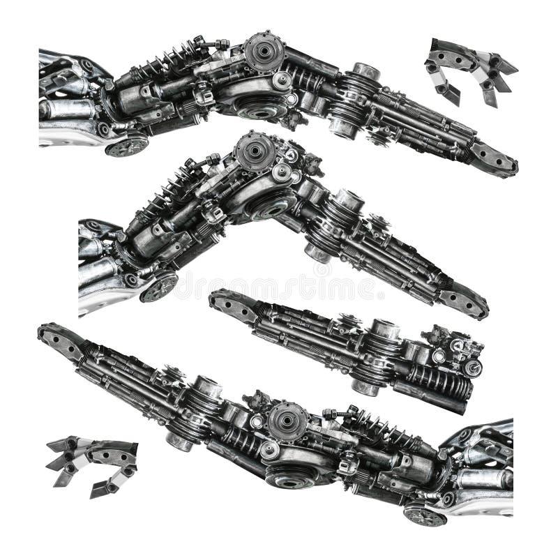 Metallic robot hand royalty free illustration
