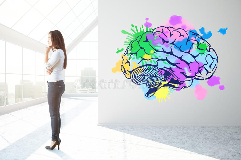 Creative mind concept vector illustration