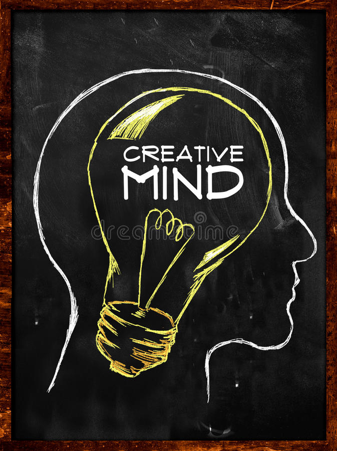 Download Creative Mind Sketch On Blackboard Royalty Free Stock Photo - Image: 36365255