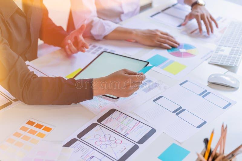 Creative mobile responsive website programer sketch planning application process development prototype wireframe. User experience. Concept, designer, phone, ux stock photos