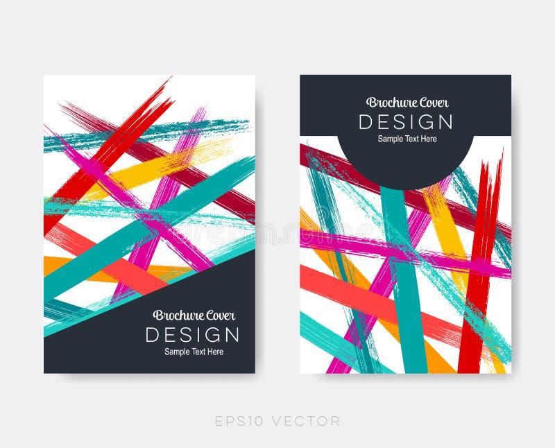 Creative modern brochure design templates. Abstract background stock illustration