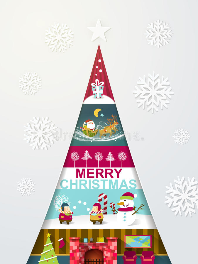 Creative modern design christmas tree with different sights stock vector image 44225870 - Creative modern christmas tree designs for christmas celebration ...