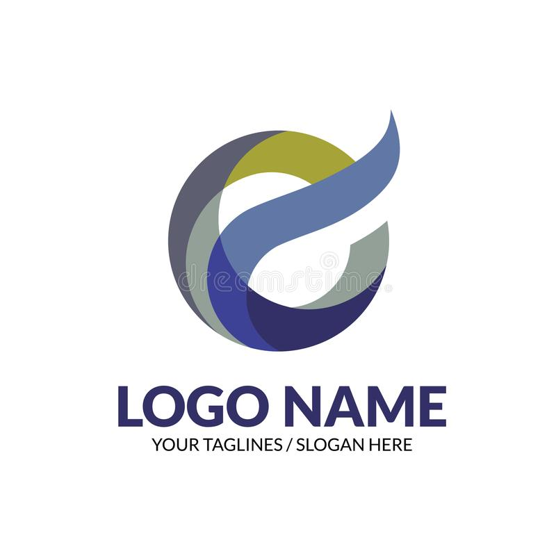 Creative modern elegant letter E logo concept royalty free illustration
