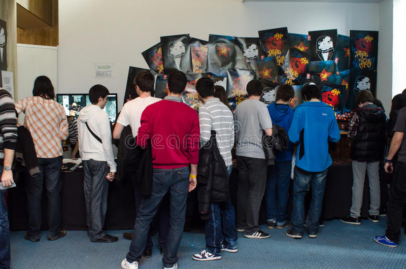 Download The Creative Monkeys Stand At EECC Editorial Stock Photo - Image: 30148313