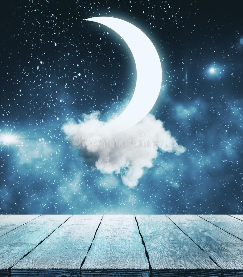 Creative moon background royalty free illustration