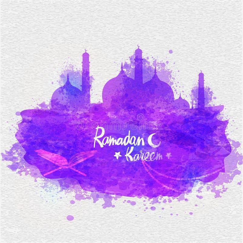 Creative Mosque for Ramadan Kareem. stock illustration