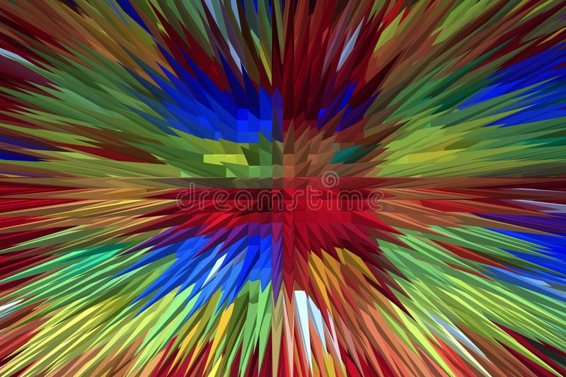 Creative multi-colored explosion stock photos