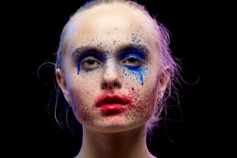 Creative multicolored makeup stock image