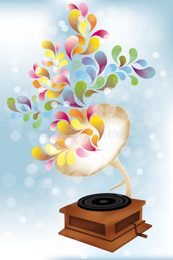 Creative music player. Illustration stock illustration
