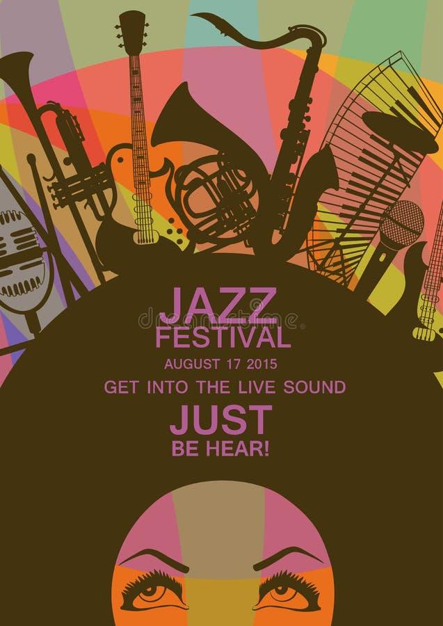 Creative musical invitation vector illustration