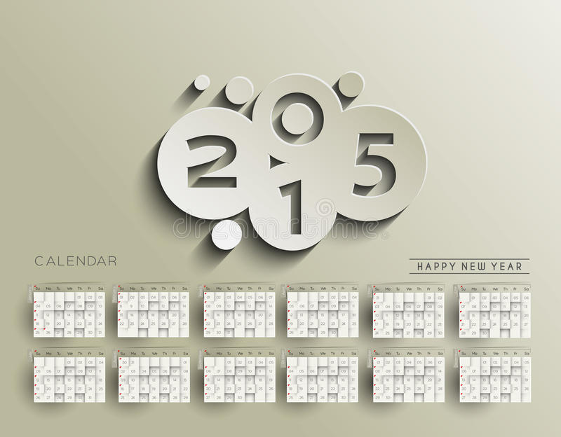 Download Creative New Year Calendar stock photo. Image of decorative - 56102726