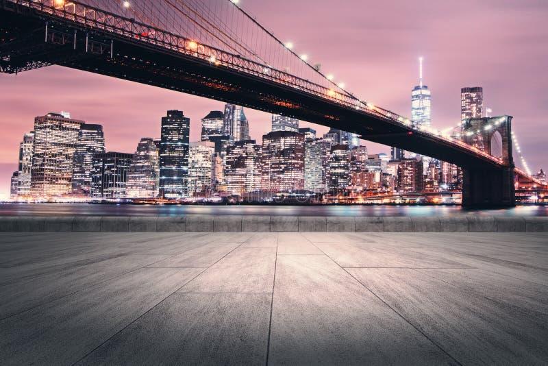 Creative Night City Wallpaper Stock Photo