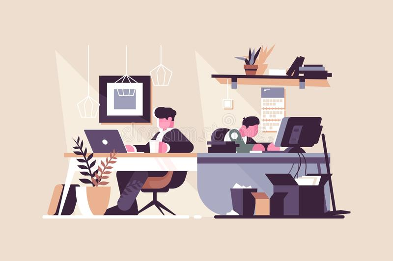 Creative office co-working center royalty free illustration