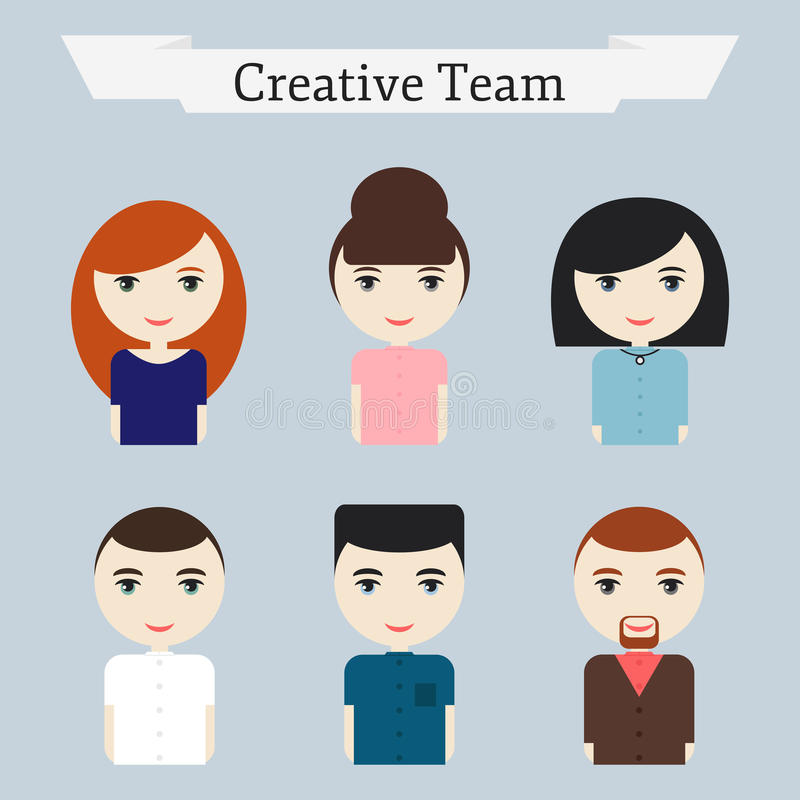Creative Office Team People Icons Set Stock Vector Image 55514151