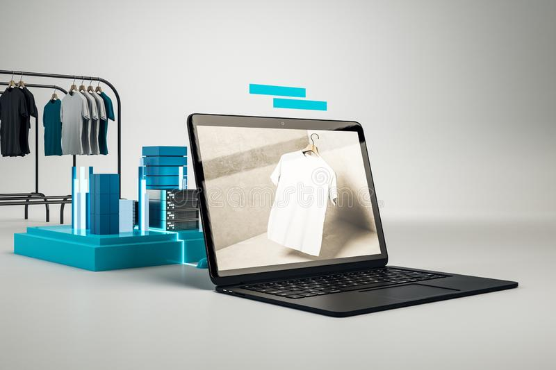 Creative online shopping concept stock illustration