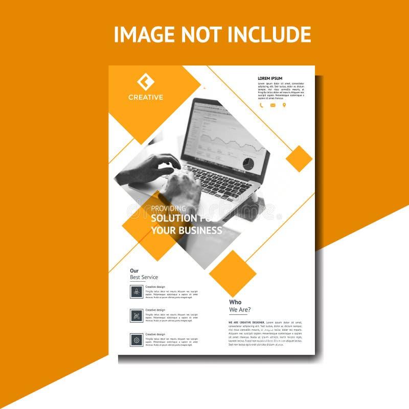 Creative Orange Corporate flyer vector illustration