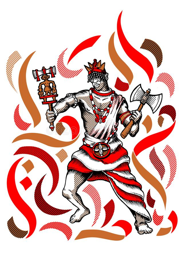Xango, Shango Orisha, Orixa, Master of all Orishas royalty free stock photos