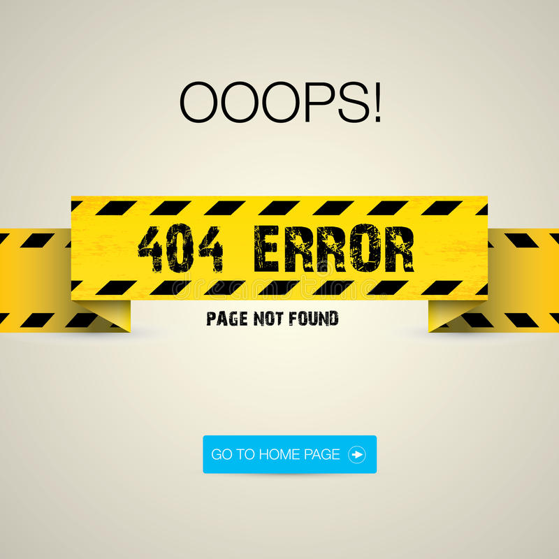 Creative page not found, 404 error royalty free illustration