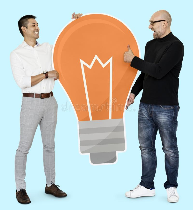 Creative partners with bright ideas stock photos