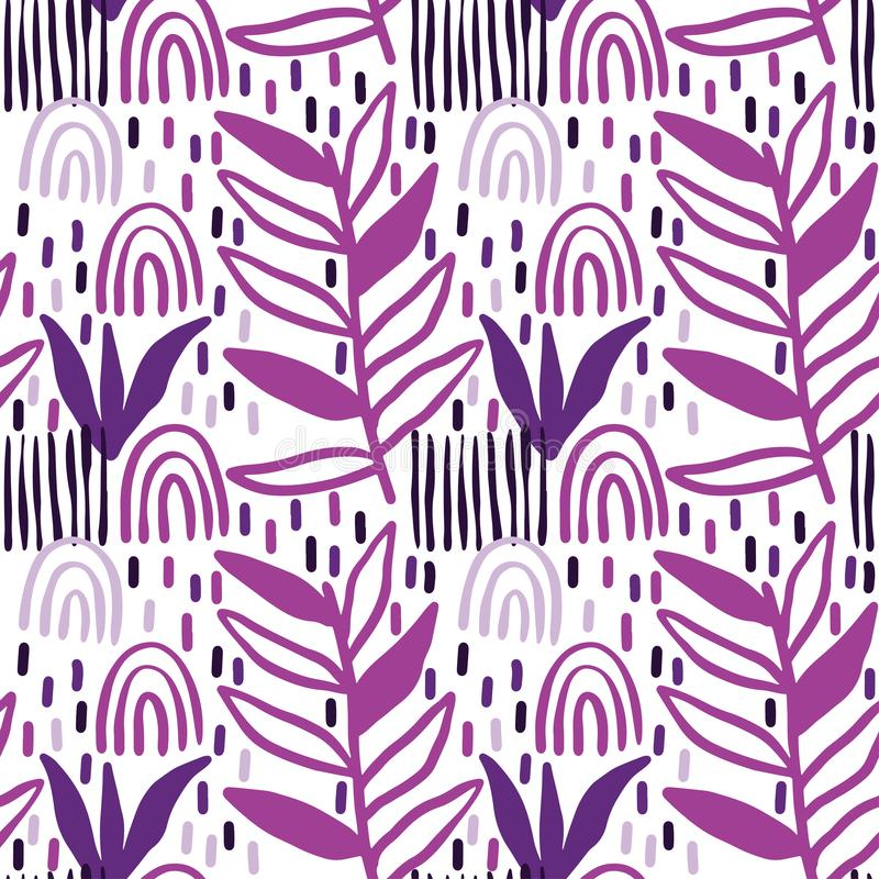 Creative pattern seamless background with floral elements and different textures. Collage. Design for poster, card, invitation, vector illustration